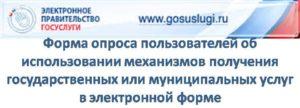 Опрос пользователей об использовании механизмов получения муниципальных услуг в электронной форме
